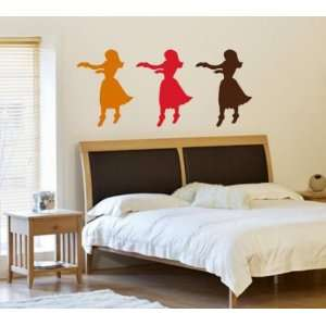 Hula Girls Dancing Decal Sticker Wall Vinyl Art Graphic Hawaii Luau