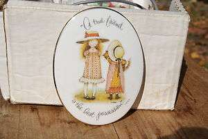 HOBBIE.GENUINE PORCELAIN A TRUE FRIENDWALL PLAQUE