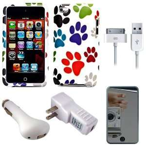 Protective 2 Piece Rubberized Crystal Hard Case Cover for Apple iPod