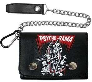 Chain Wallet Psycho Rama Rockabilly Punk Zombie Tattoo