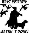 Duck Hunter Hunting Decal Sticker man with dog