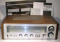 TECHNICS SA 200 AM/FM STEREO RECEIVER WORKS MANUAL WOOD CABINET SILVER
