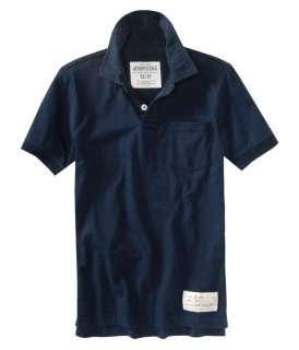 Aeropostale mens solid pocket polo shirt