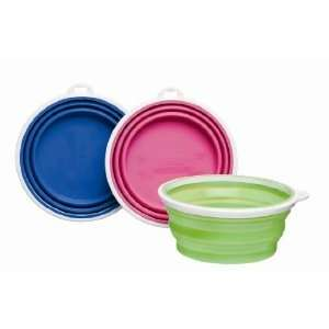 Bamboo Silicone Pop Up Travel Bowl, 3 Cup, Colors Vary