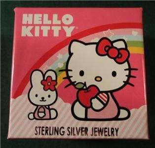 Genuine Sanrio Hello Kitty Sterling Silver Necklace Retail $95 NEW NIB