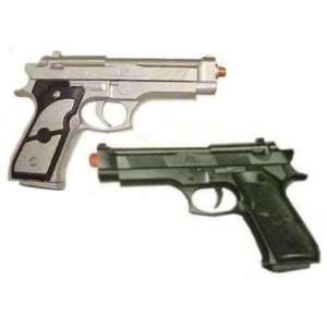 Two (2) Beretta Airsoft BB GUNS Pistol Gun Silver & Black Pair