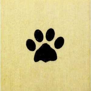Mini Paw Print Rubber Stamp   Dog / Cat / Bear   Wood