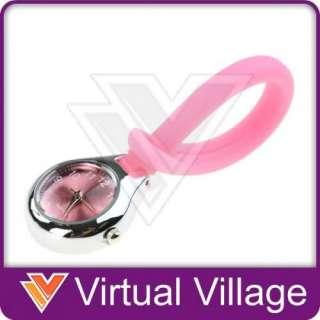 Rubber Silicone Pink Nurse Nurses Watch Bag Fob #1
