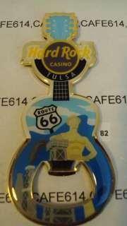 Rare Hard Rock Casino TULSA (ROUTE 66 ) Bottle Opener Guitar Magnet