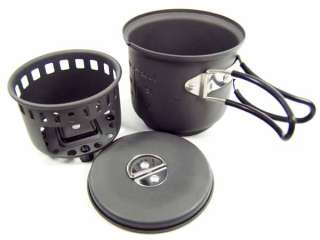 Esbit Backpacking Hard Anodized Alum Solid Fuel Cookset