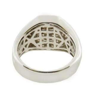 10 Carats Mens Heavy Top Diamond Ring Comfort Fit Handmade 14k
