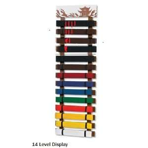 14 Level Martial Arts Karate Taekwondo Rank Belt Display