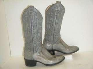 Ladies Tony Lama Snake Skin Boots sz 5.5C (#9838)