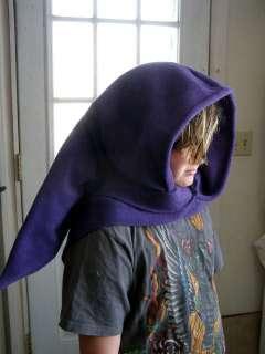 long Elven Wizard Hoodie Scarf costume cosplay Hat Green Goblin Hood