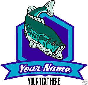 Fishing Bait Shop Bass Logo Custom Vinyl Decal 24