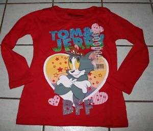 NWT Girls TOM & JERRY Red Thermal Jersey ~Var Sizes~