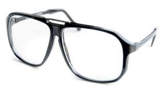 Big PERV Peeping Tom/Flasher Black CLEAR LENS Glasses