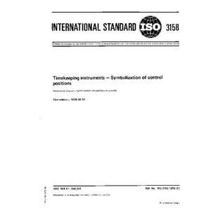 ISO 31581976, Timekeeping instruments    Symbolization of