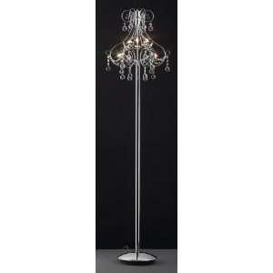 Bethel Ka121   6 Light Clear Crystal Floor Lamp