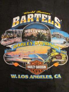 HARLEY DAVIDSON MENS M BARTELS LOS ANGELES S/S BLACK T SHIRT