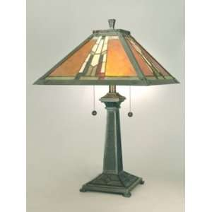 Dale Tiffany Amber Monarch Tiffany Table Lamp with Mica