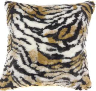 CF71 TIGER FAUX FUR SKIN PILLOW CUSHION COVER*CUSTOM SZ