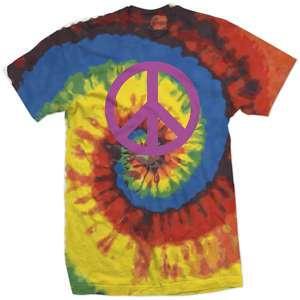 PEACE SIGN tie dye vintage hippie 70s retro SHIRT M