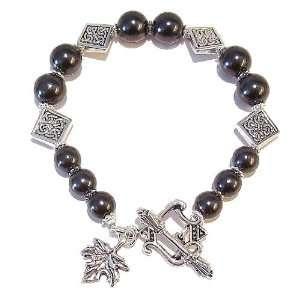 The Black Cat Jewellery Store Black Czech Pearl & Tibetan