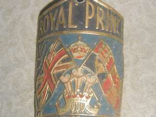 vintage original Royal Prince bike headbadge badge bicycle retro rare