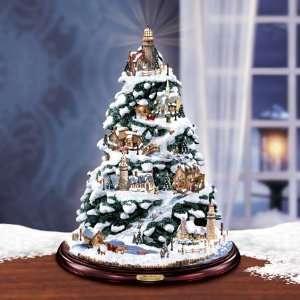 Thomas Kinkade Christmas By the Harbor Tabletop Tree