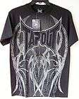Affliction Mens Thermal Shirt Reversible Red & Black/Red Extra Large