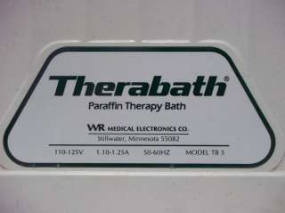Therabath TB 5 Paraffin Wax Therapy Bath Heat Professional Pain Relief