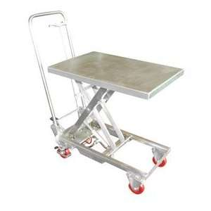 Stainless Steel Hydraulic Elevating Mobile Lift Table 400
