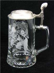 Glass, Pewter Lidded Beer Stein Sport NFL Football Logo