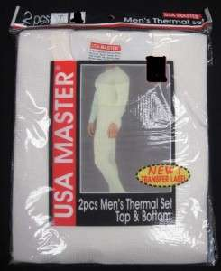 NWT NEW MENS 2PC THERMAL UNDERWEAR SET LONG JOHN M 4X