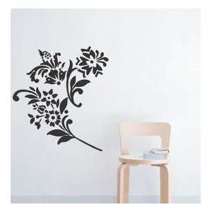 Decor Vinyl Mural Art Wall Paper Stickers   Daisy Flower Black Baby