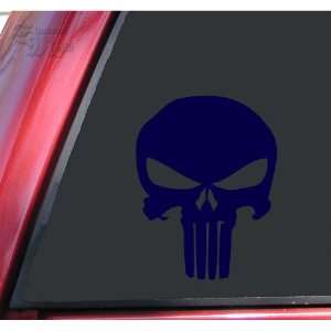 Punisher 2K Skull Vinyl Decal Sticker   Dark Blue
