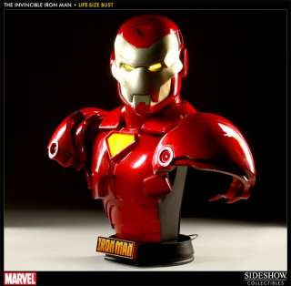 Sideshow Iron Man   Invincible Iron Man Life Size Bust Comic Ver