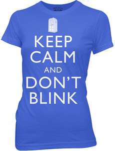New Dr Doctor Who Keep Calm & Dont Blink Angels Ladies Women Jr T