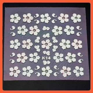 Sheets 3D Nail Art Stickers Beautiful Flower Design