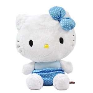 Hello Kitty Giant Plush Doll Toy   17 Blue Star Ribbon Toys & Games
