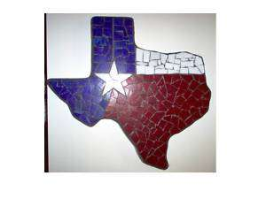 Texas shaped Stepping stone, Texas Flag beautiful!