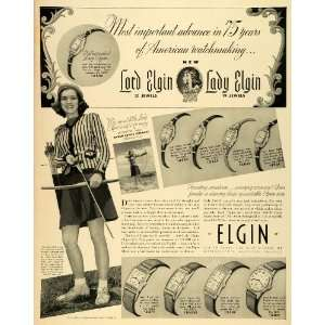 1939 Ad Elgin National Watch Co Lord Archery Sarah Louise