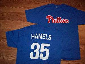 Philadelphia Phillies Cole Hamels # 35 Royal Blue Tee Shirt