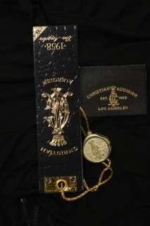 Hardy Christian Audigier Black Crown Chain Strap Sequin Dress