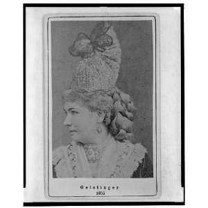 Marie Geistinger,Austrian actress/singer,1860 1870