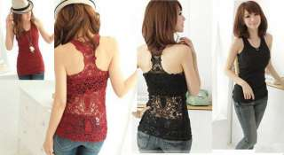 Out Back Camisole Pierced Lace Vest Fahsion New Tops 5 Color