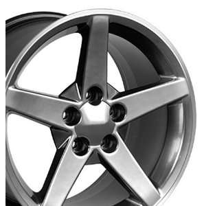 C6 Style Wheels Fits Camaro Corvette   Hyper Black 17x9.5