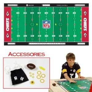 Finger FootballT Game Mat   Chiefs   Toys Games Finger Football NFL
