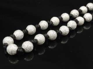 Men Black/White/Black & White/Black & Yellow Cz Stone Chain Necklace